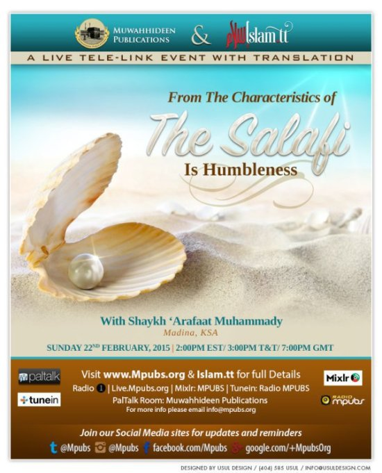 From The Characteristics Of The Salafi Is Humbleness