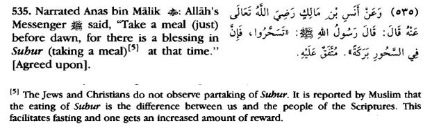 Blessings in Suhur