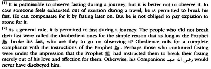 Breaking Fast When Hardship During Travel