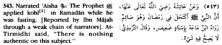 Kohl-Fasting-Bulugh al Maraam
